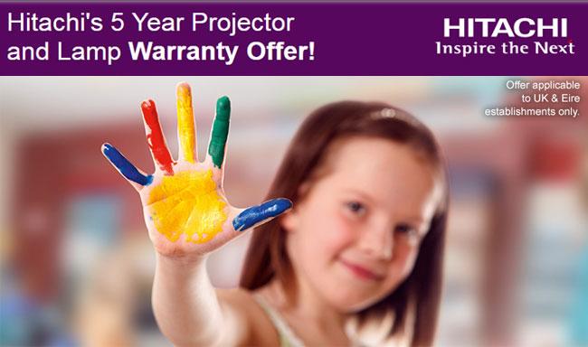 Hitachi 5 year projector warranty